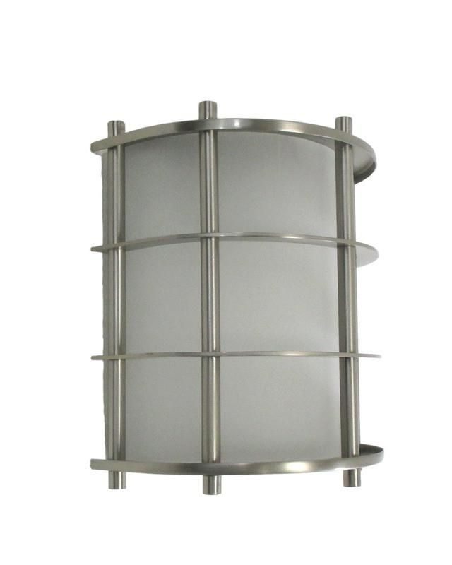 Epiphany Lighting 103514 BN Contemporary Wall Sconce in ... on Decorative Wall Sconces Candle Holders Chrome Nickel id=66646