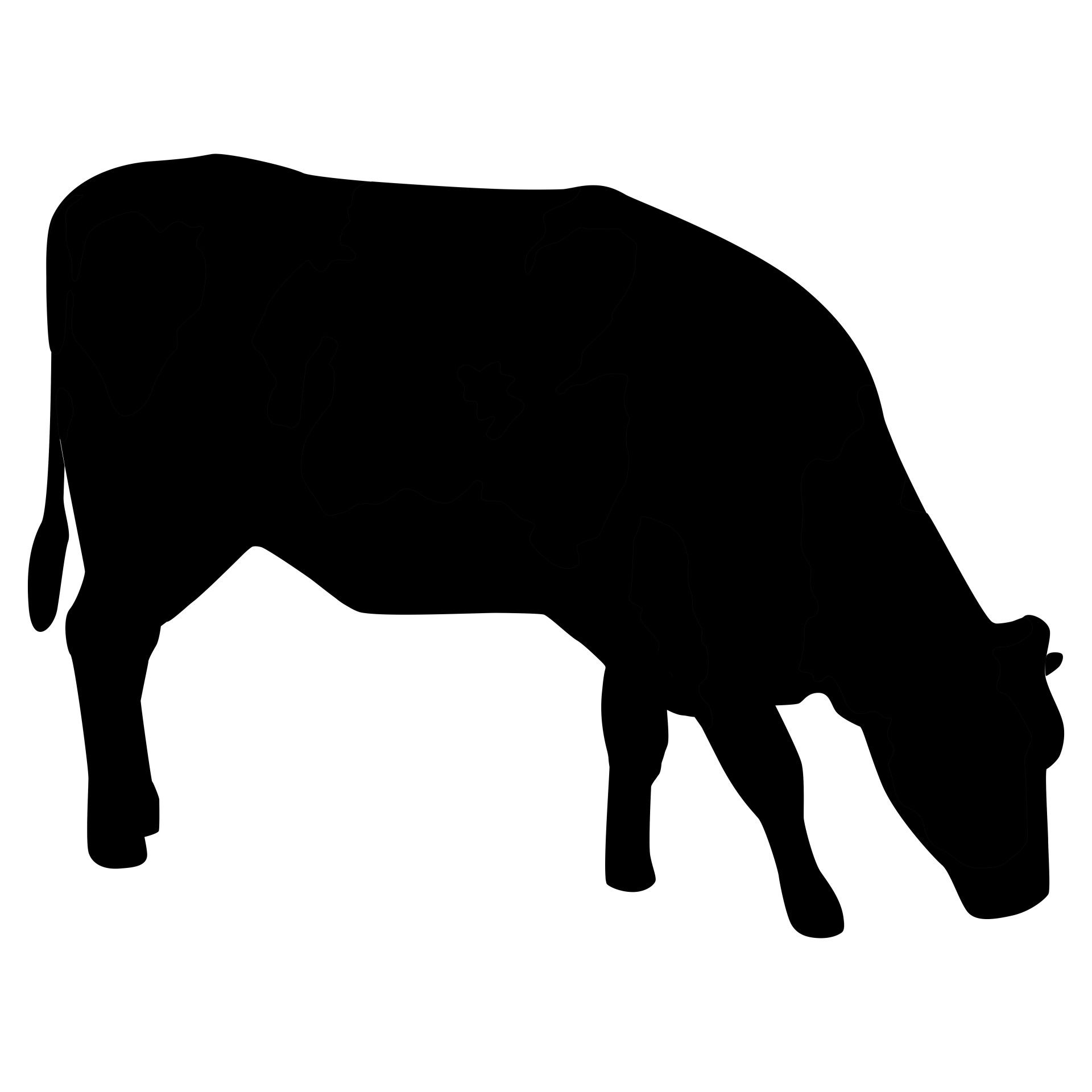 Cow Silhouette Free Stock Photo - Public Domain Pictures | beef ... for Cow And Calf Clipart  285eri