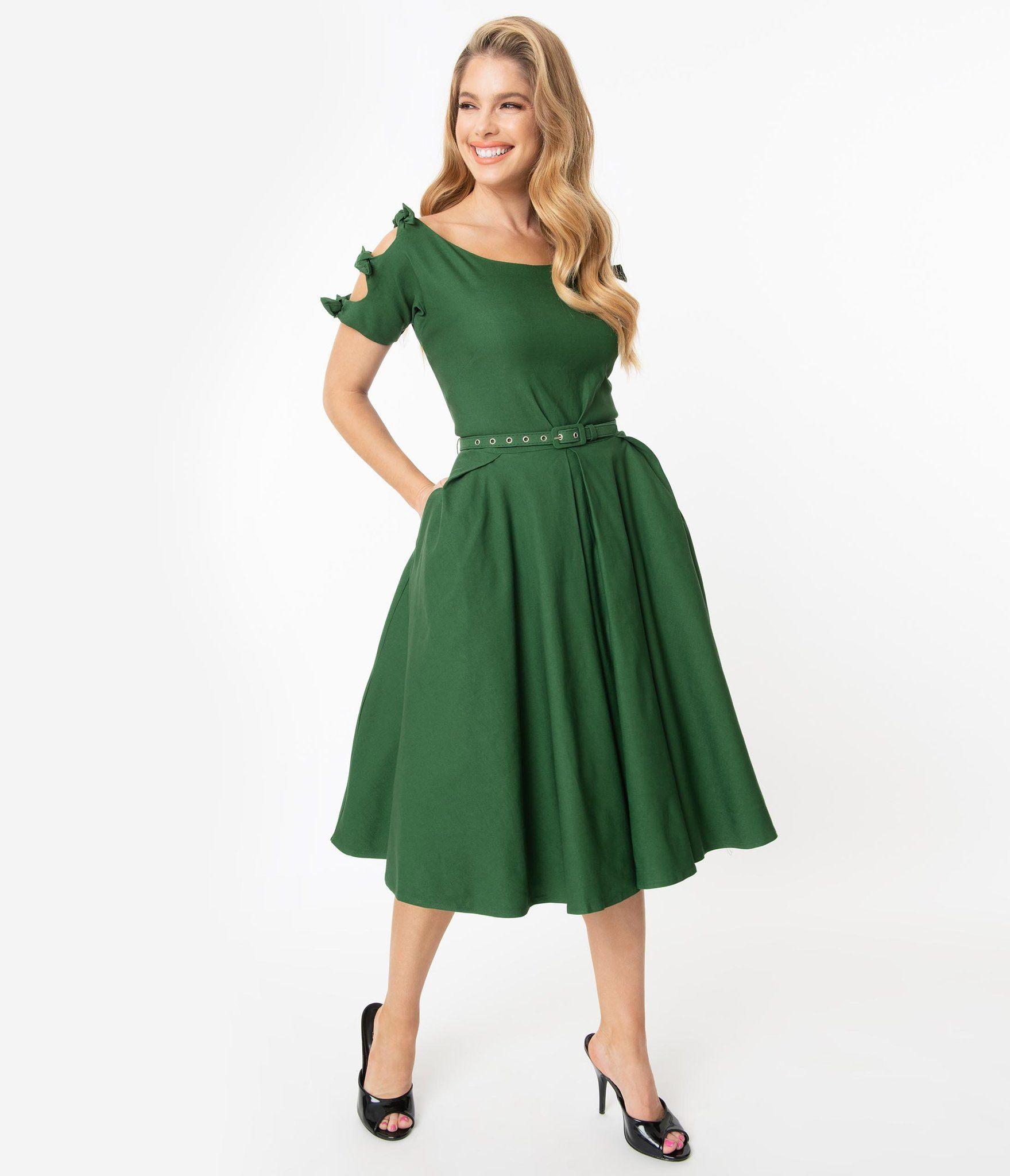 Unique Vintage 1950s Green Selma Swing Dress Mod And Retro Clothing Unique Dresses Swing Dress Skirt Inspiration [ 2048 x 1759 Pixel ]