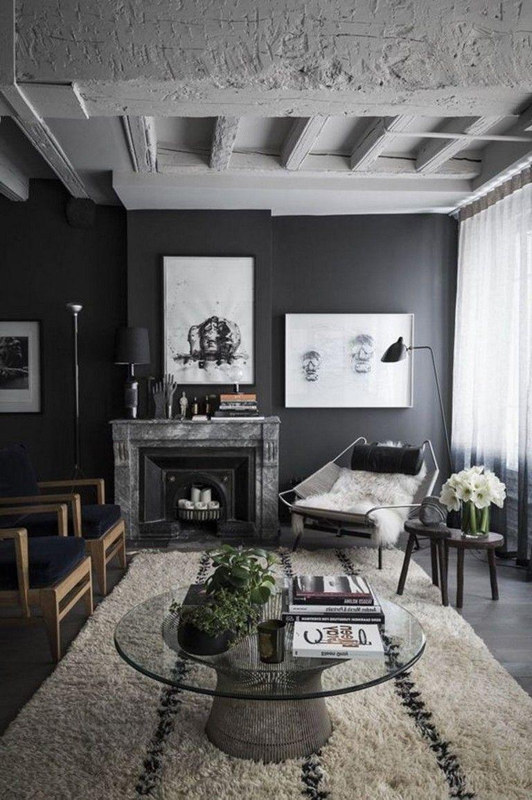44 top living room ideas with black walls  interior