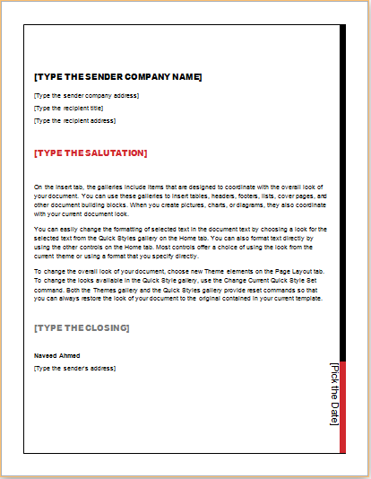 Download Business Letter Template At HttpWwwTemplateswordCom