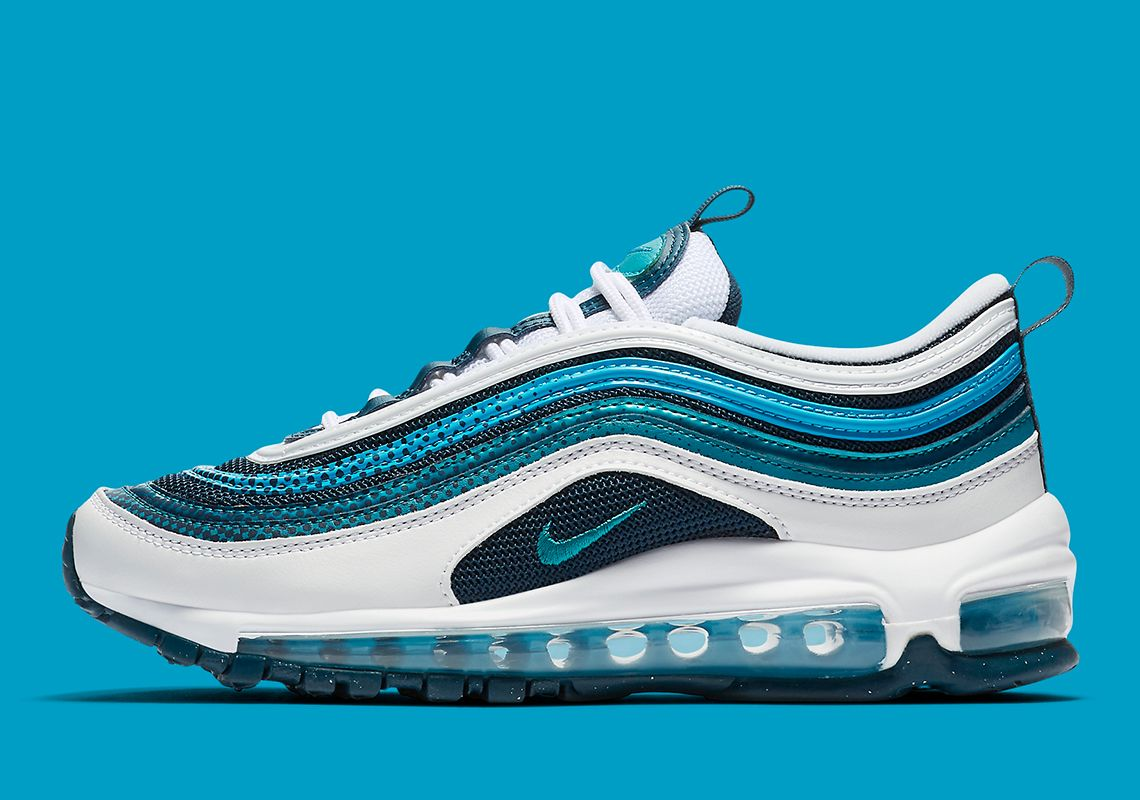 Nike Air Max 97 Rf Mixes Blue And Teal With Dotted Patterns
