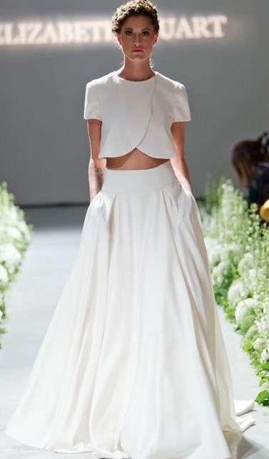 tendencias de boda 2017: vestidos de novia de dos piezas [fotos] (37