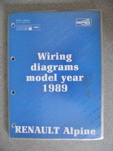 renault alpine wiring diagrams manual 1989 7711085673 nt8047 #