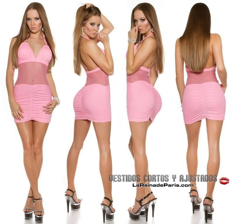 Comprar Mini vestido ajustado con transparencias online Vestidos ...