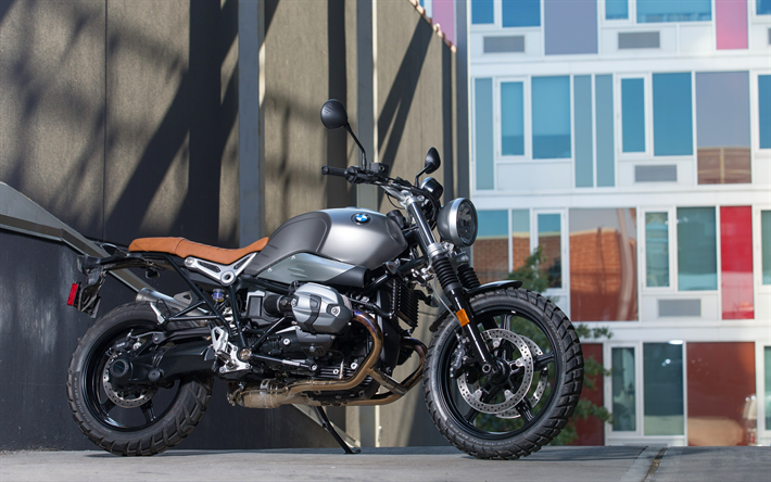 Download Wallpapers BMW R NineT Scrambler 4k 2017 Bikes Superbikes German Motorcycles