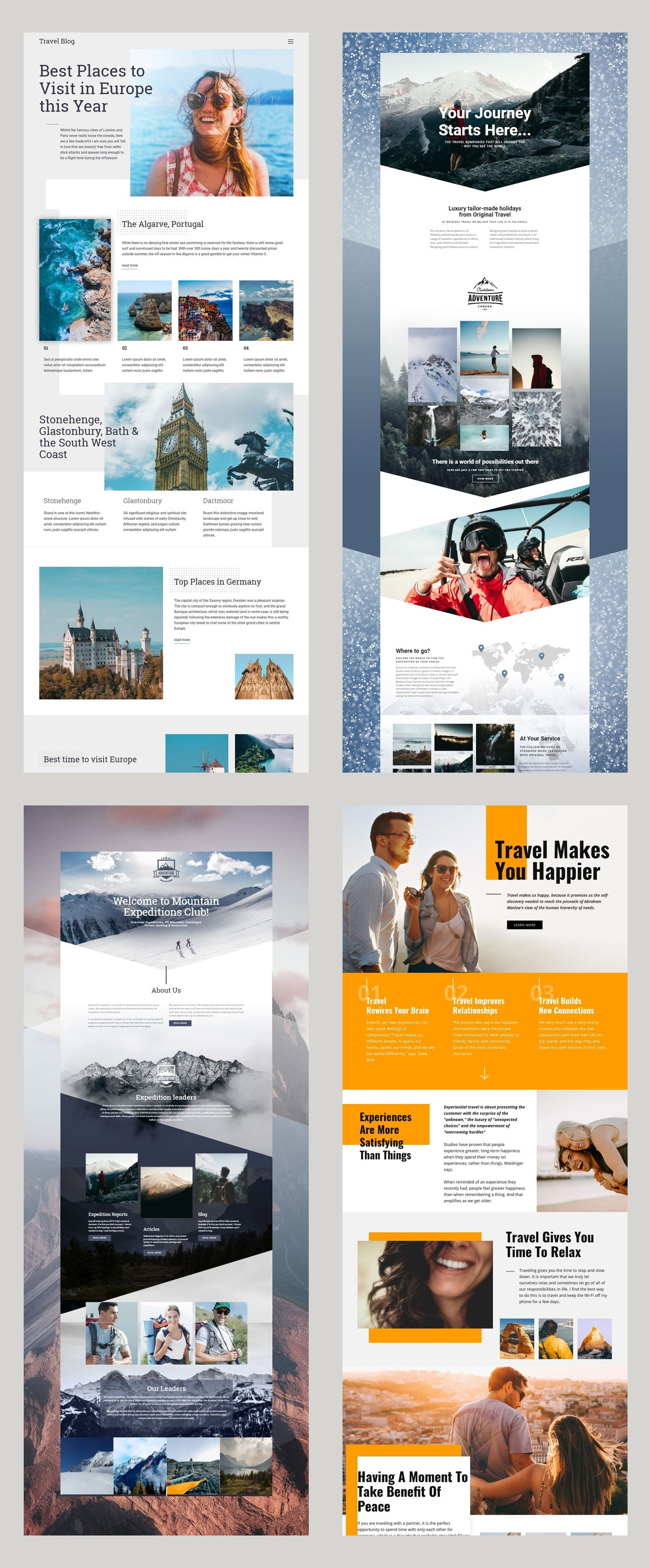 Free Templates By Nicepage Builder Travel Website Design Diy Website Design Web App Design