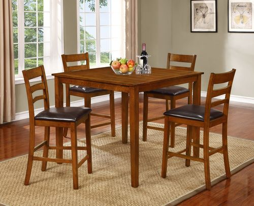 5 Pc Generation Trade Jasper Counter Height Dining Table Set