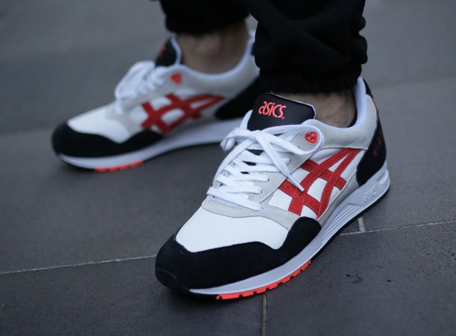 Asics Gel Saga 'Black Beige White Flash Coral' #asics
