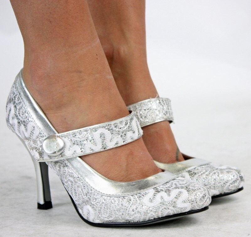 Silver Shoes For Weddings Ideal Weddings Silver Wedding Shoes Womens Wedding Shoes Bridal Pumps