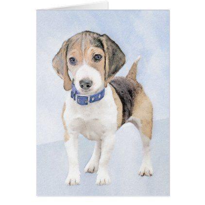 Beagle Painting Cute Original Art Zazzle Com Beagle