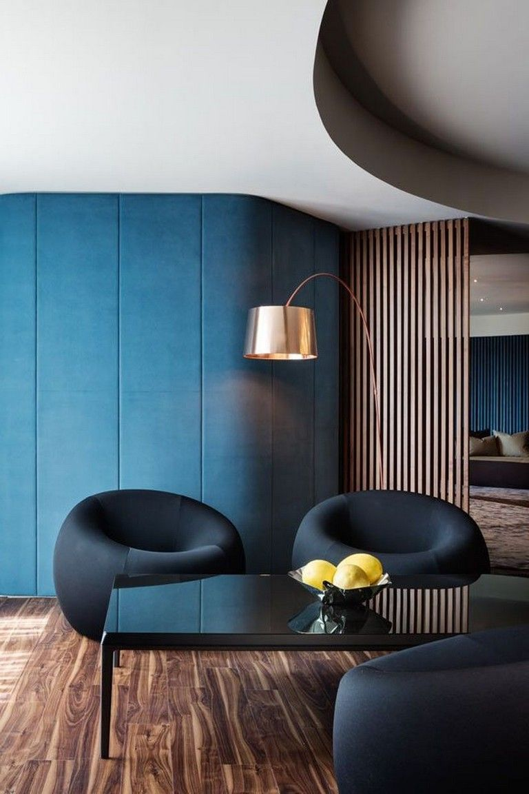 30 Inspiring Contrast Color Theme Interior Design Ideas Blue