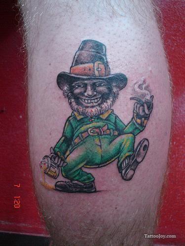Evil Fighting Irish Leprechaun Pin Irish Leprechaun Tattoo