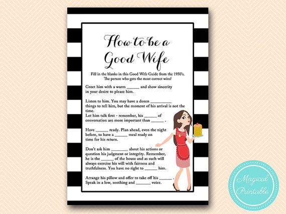 How to be a good wife 1950's good wife guide by MagicalPrintable