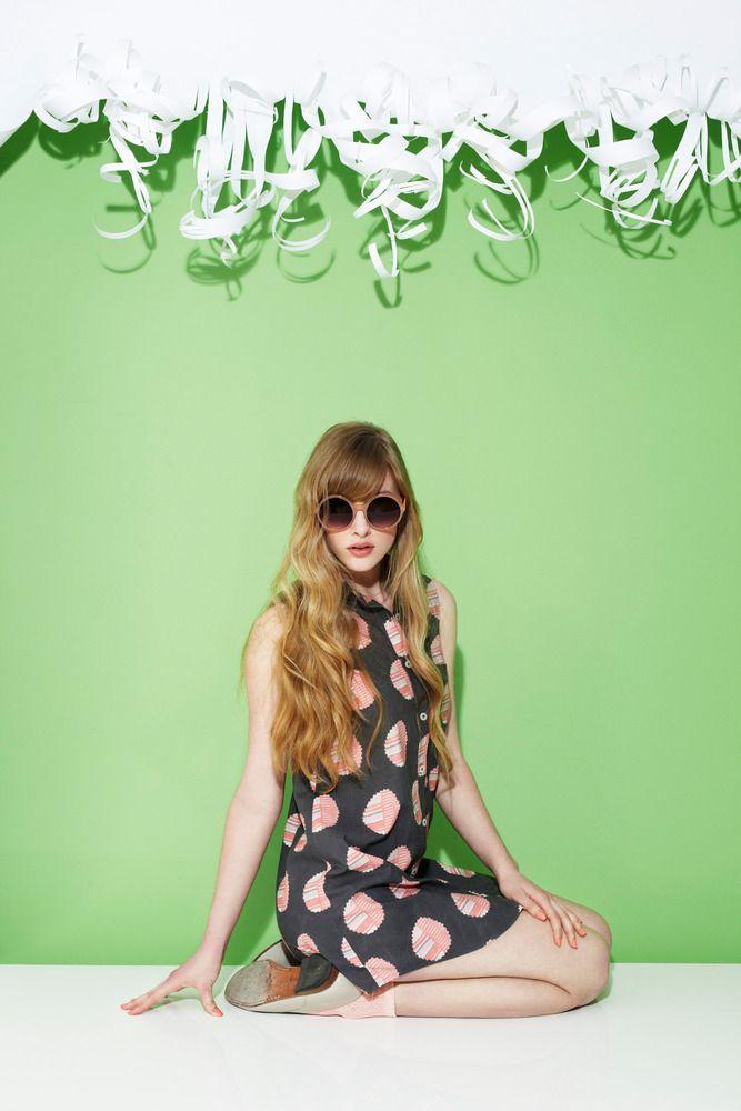 for summer nights. // alder shirtdress : grapefruit // hound