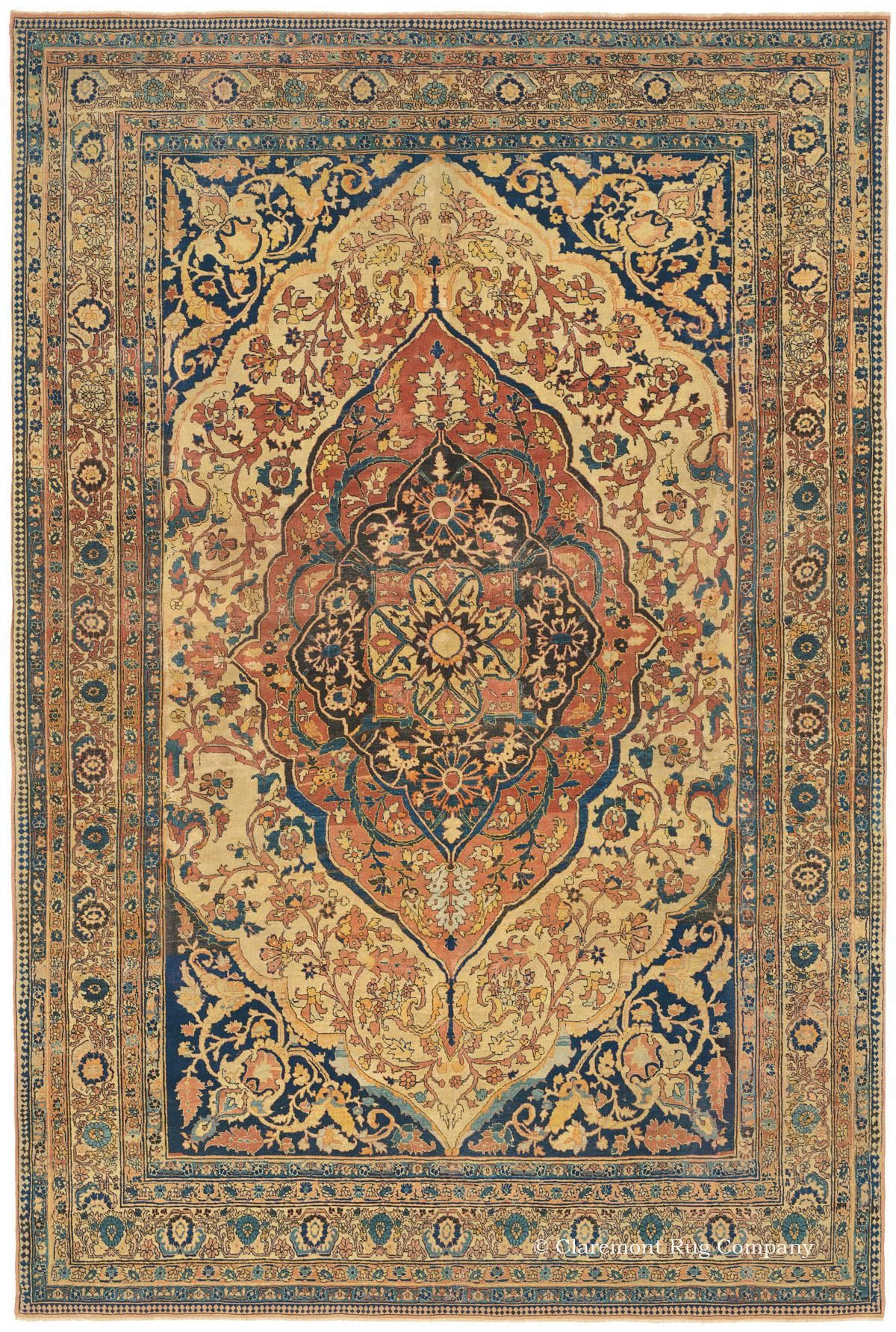 Haji Jalili Tabriz Antique Carpet With Apricot Hues Antique Persian Carpet Persian Rug Designs Antique Carpets