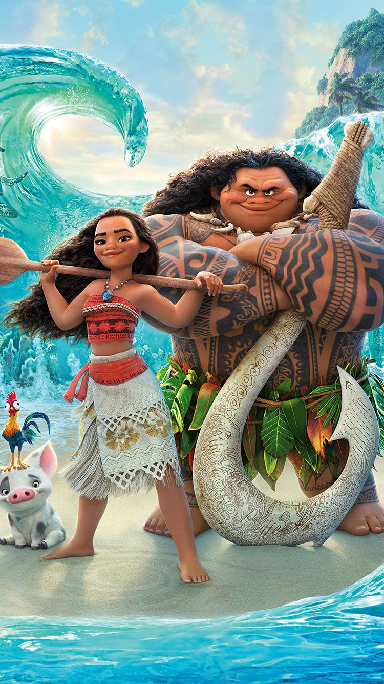 Iphone7 And 7 Plus Wallpaper Aw10 Moana Disney Art Sea Anime