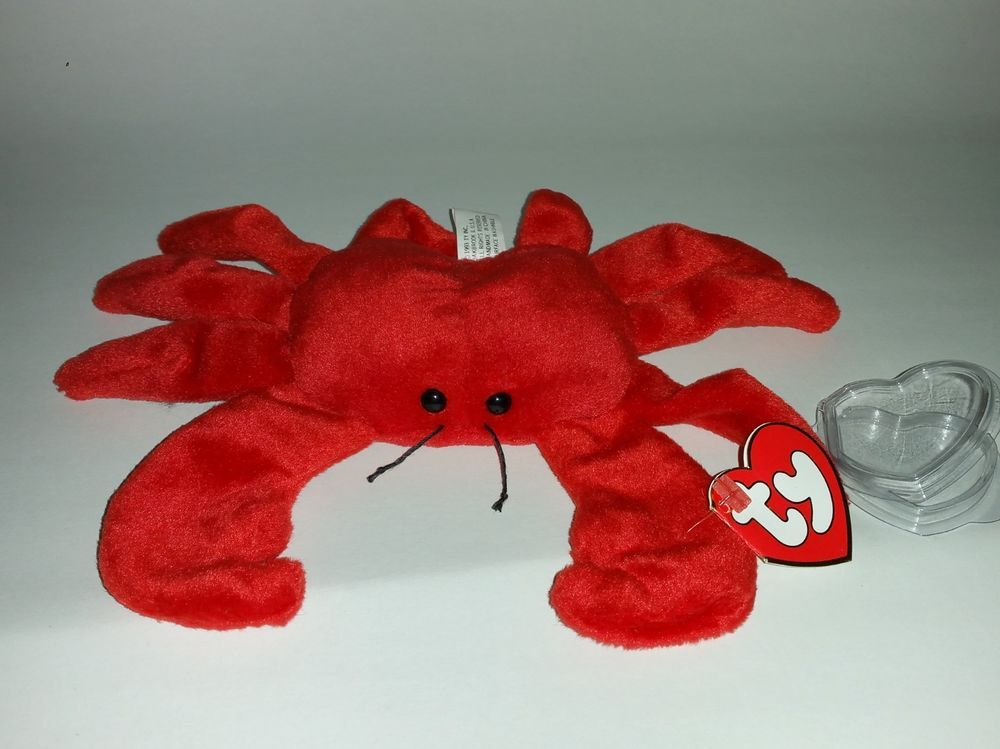 TY Digger the Crab 3rd 1st Gen Beanie Baby - Same tags as 1G Orange Digger  RARE  Ty bd3bfa375d6