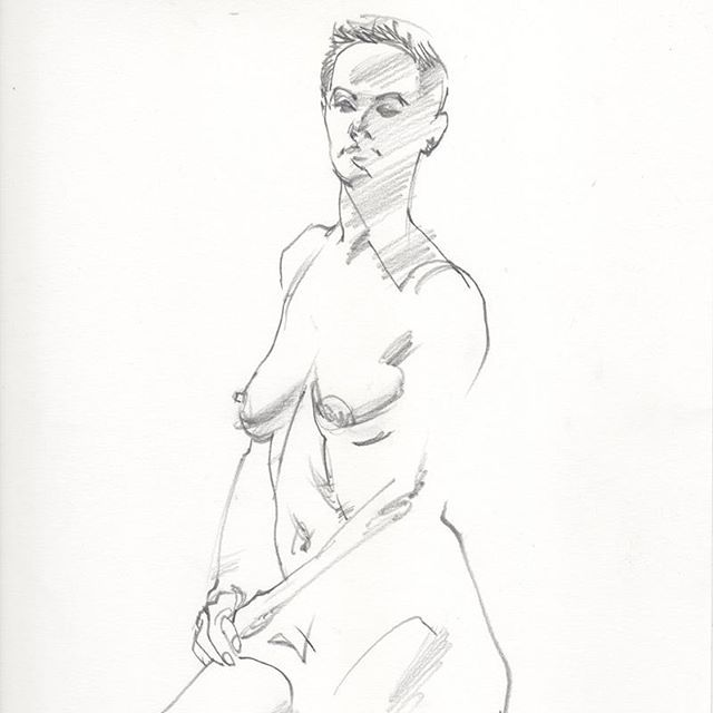 Some 5 minute gesture drawings of the beautiful @janasomething from