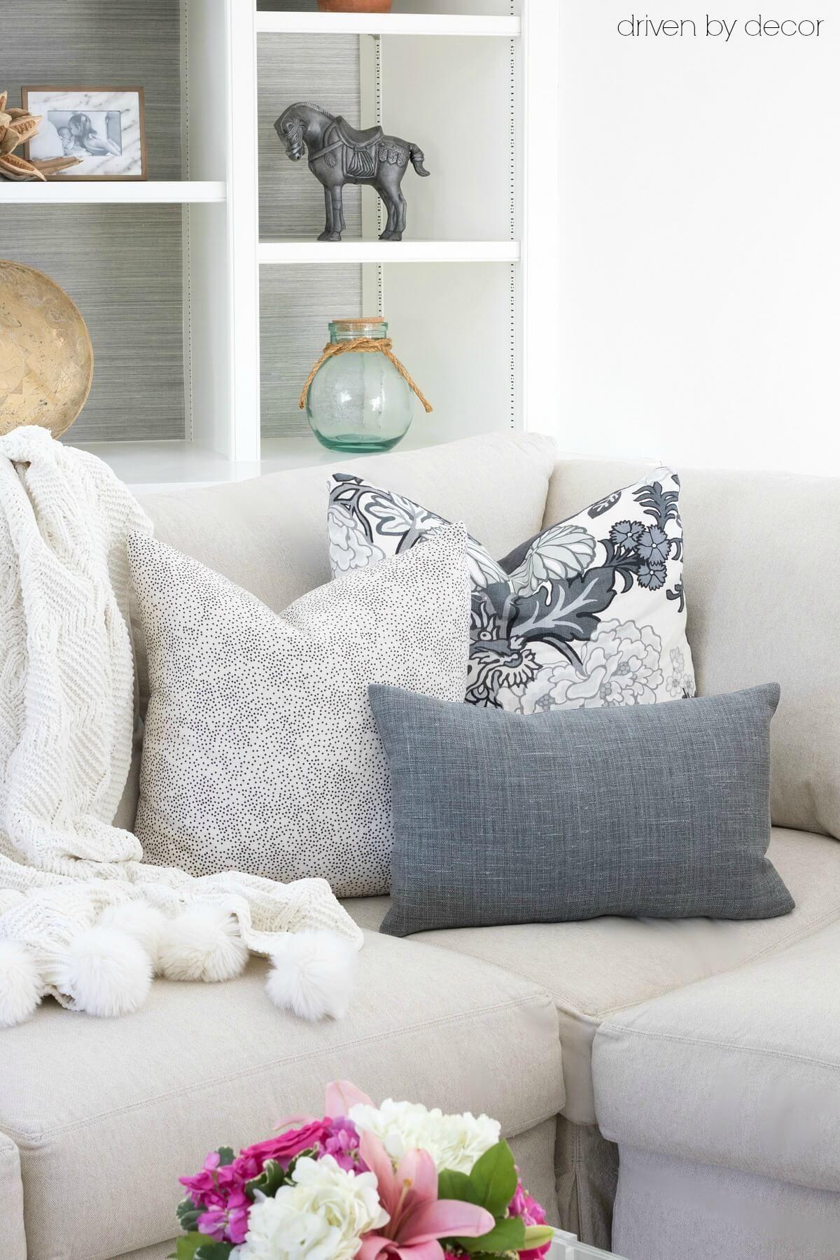 Pillows 101: How to Choose & Arrange Throw Pillows | Pillows, Living ...
