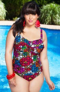 96626c53b8409 Women s Plus Size Swimwear - Always 4 Me Zinnia Swimsuit Style  AFM311 -  16W-24W - JUST ARRIVED