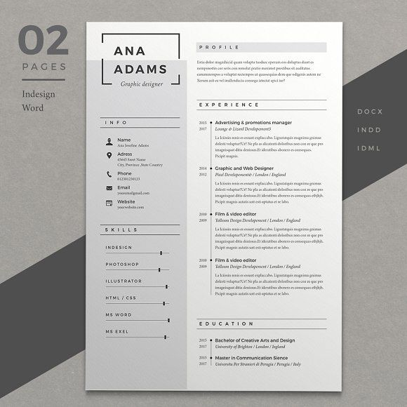 Resume Ana Template, Cv template and Cv ideas - great resume fonts