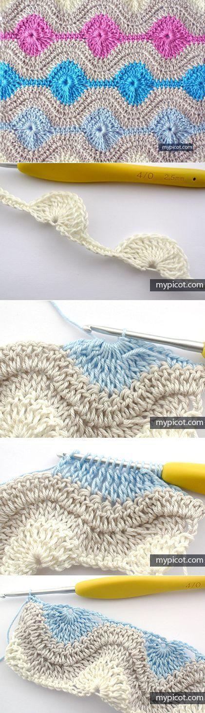 mypicot.com | croche | Pinterest | Ganchillo, Tejido y Manta