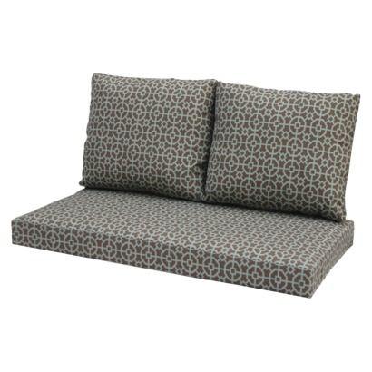 Delightful Winn 3 Piece Outdoor Loveseat Replacement Cushion Set