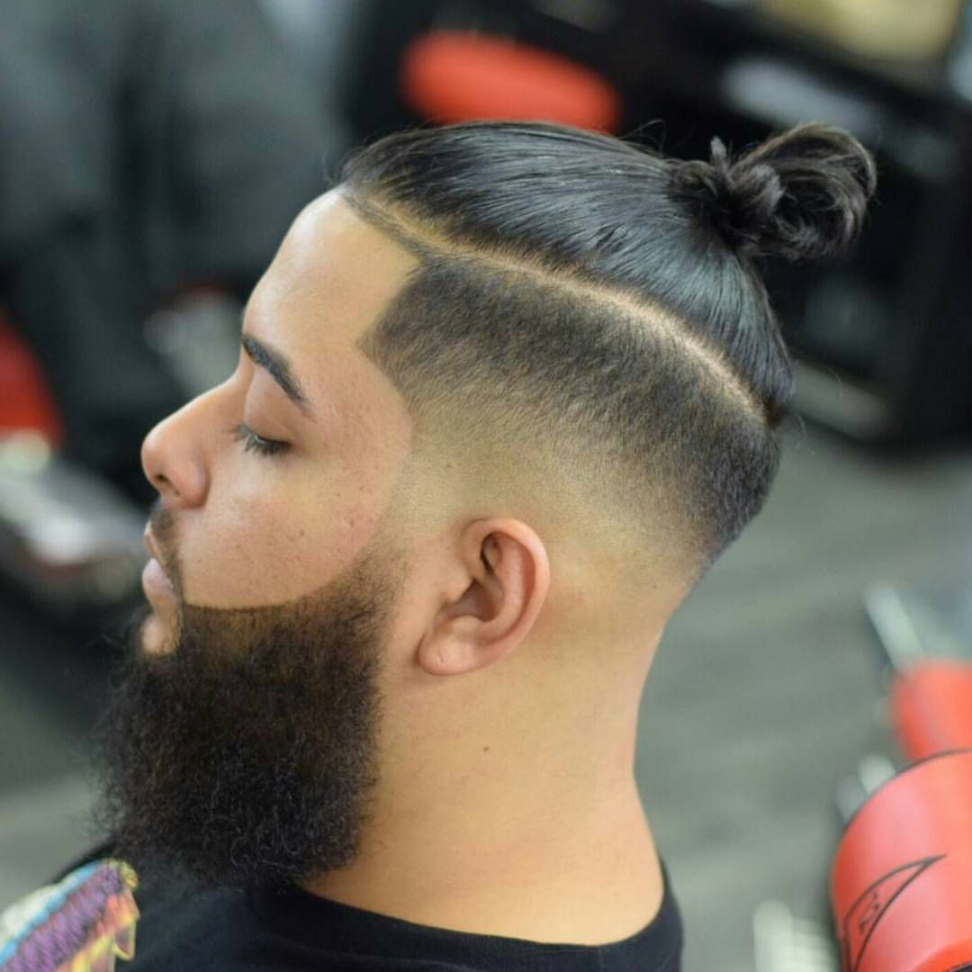 man bun bun hairtsyles hair styles with beard beard with
