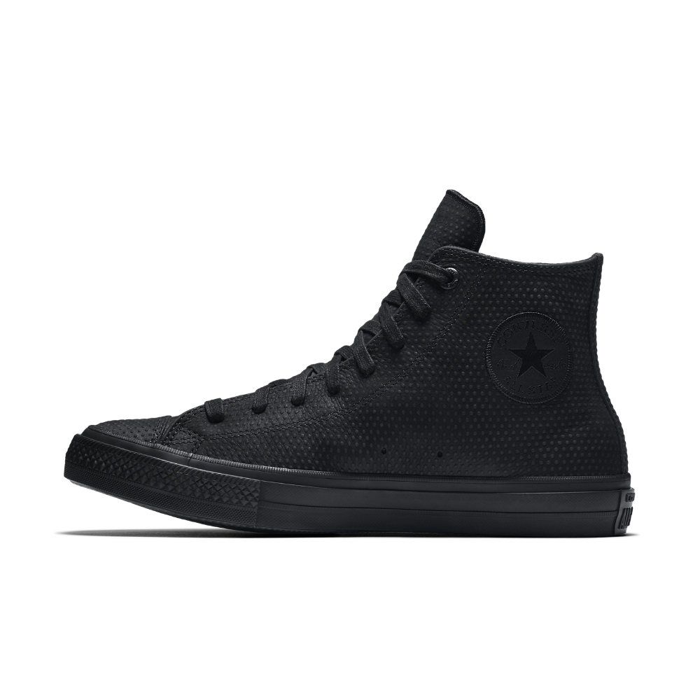 16abae27a788 Converse Chuck II Lux Leather High Top Shoe Size 3 (Black) - Clearance Sale