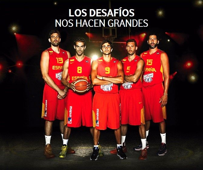 b198297f5f8 The Spain national basketball team is off to Slovenia! Lets three-peat for  the Gold!