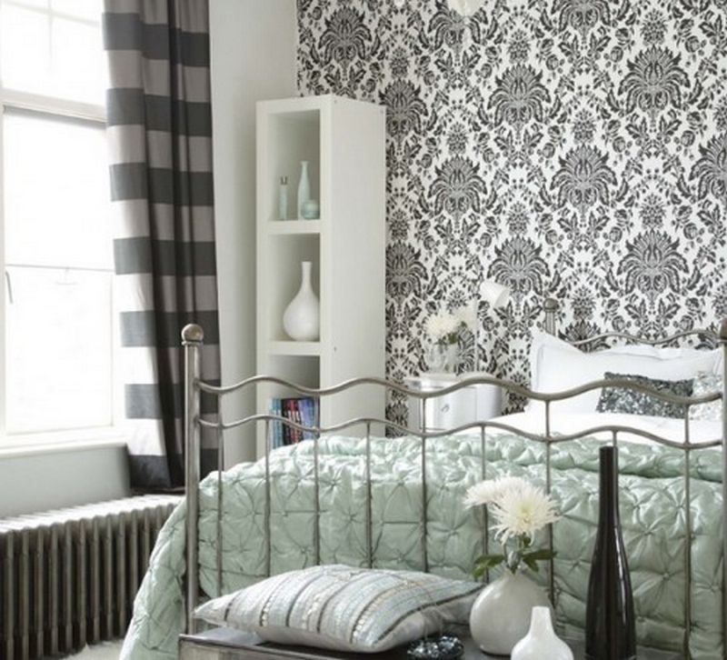 Modern Interior Of A Bedroom Scandinavian Style Cовременный