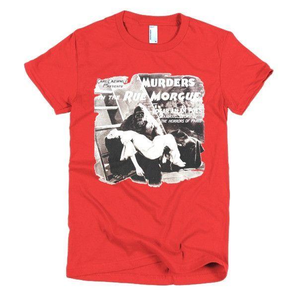 Murders in the Rue Morgue Edgar Allan Poe Vintage Movie Womens Tee Short sleeve women's t-shirt
