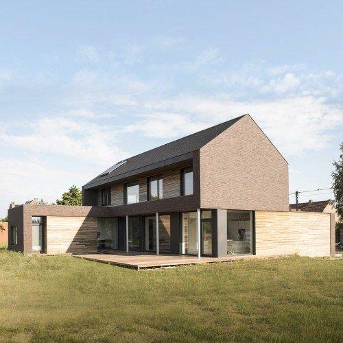 Maison passive Belgique Hainaut contemporaine brique et bois ...