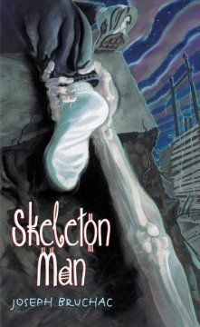 "Skeleton Man by Joseph Bruchac - After her parents disappear and she is turned over to the care of a strange ""great-uncle,"" Molly must rely on her dreams about an old Mohawk story for her safety and maybe even for her life."