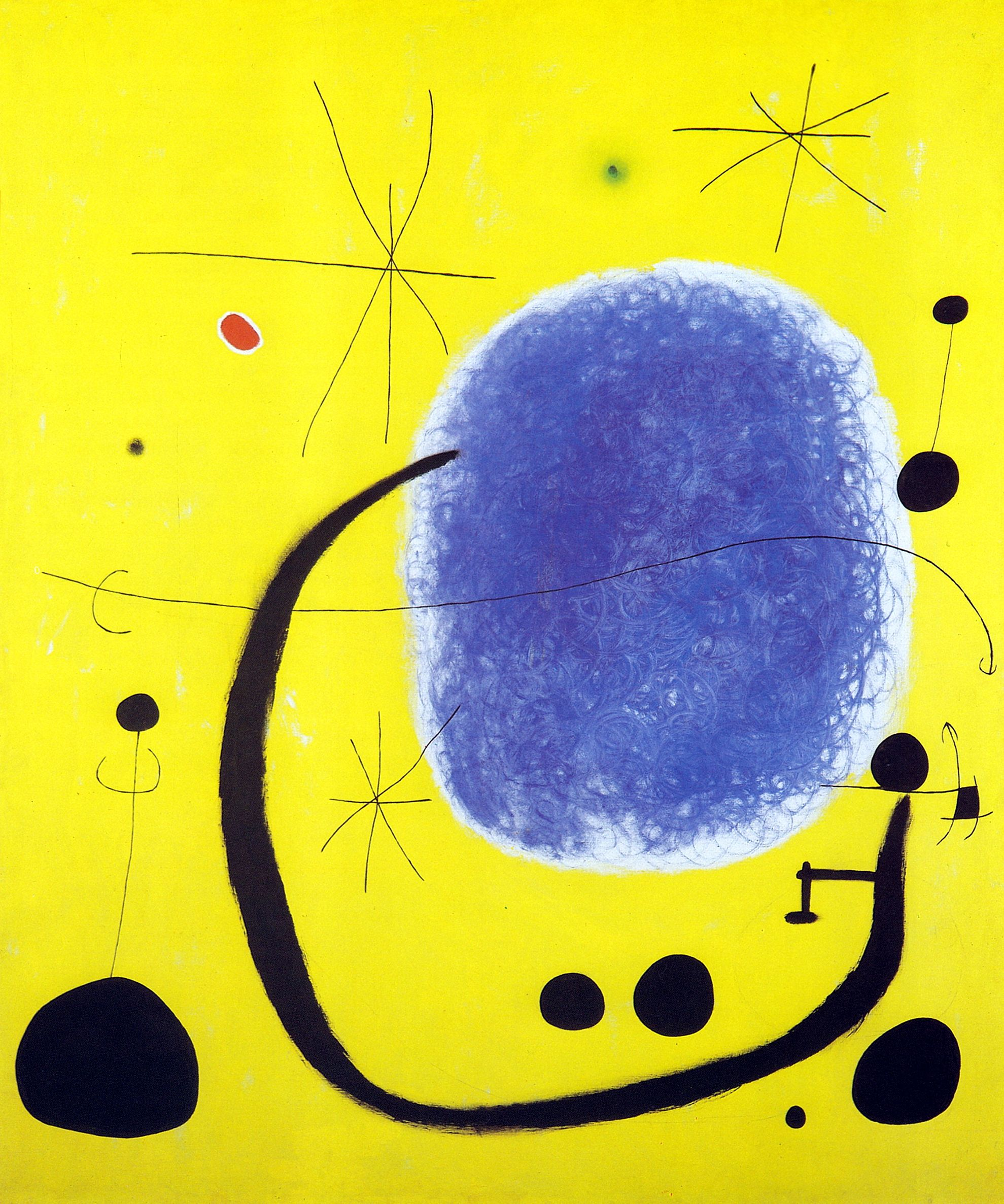 Juan Mirò, The gold of blue (1967).