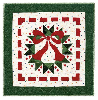 Photo of Martingale – Ribbon Wreath Table Topper ePattern