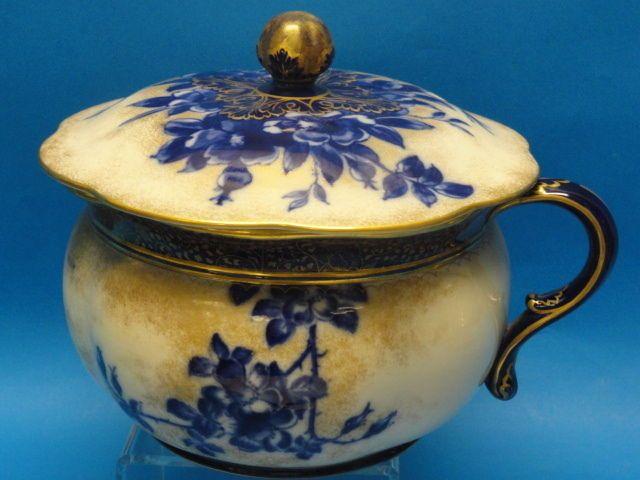 Details About Antique Royal Doulton Burslem Blue Amp White