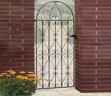 Burbage Regent Scroll Tall Bow Top Gate Metal Garden Gates