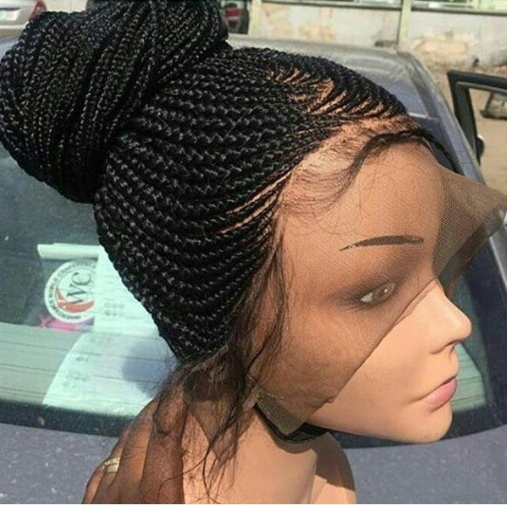 Cornrow Full Lace Frontal Ponytail Wig in 2019 | Braids wig, Braided hairstyles, Ponytail wig