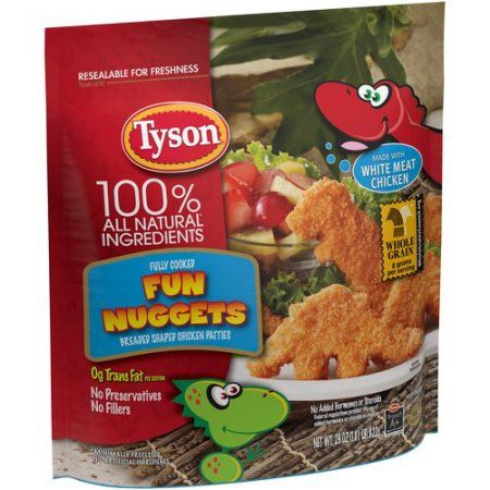 Tyson Fully Cooked Fun Chicken Nuggets 29 Oz Frozen Walmart Com Tyson Chicken Chicken Nuggets Dino Chicken Nuggets