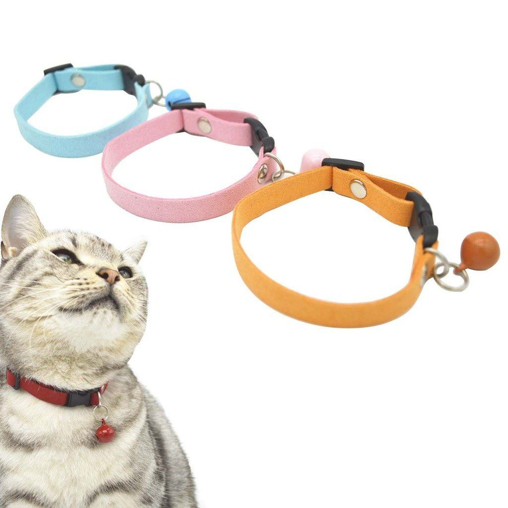 Shorven Pack Of 3 6 10 Adjustable Cat Kitten Collar With Detachable Bell Details Can Be Found By Clicking On Th Kitten Collars Cat Collars Cats And Kittens