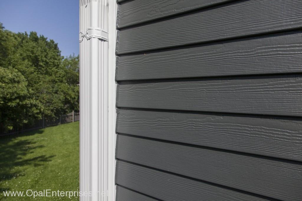 James Hardie Iron Gray Siding In Wheaton Illinois Exterior House Renovation House Exterior Siding Colors For Houses