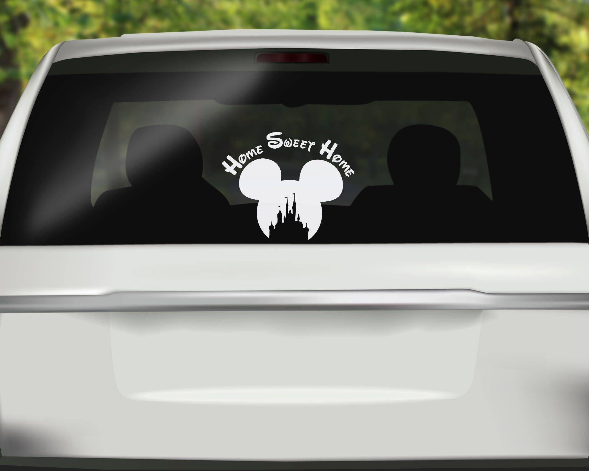 Bumper sticker design tips - Bumper Sticker Design Ideas Disney Home Sweet Home Decal Mickey Ears Decal Princess Castle Sticker