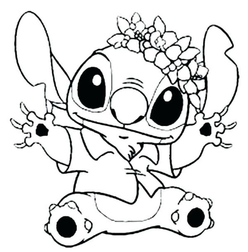 40+ Cute baby stitch coloring pages information