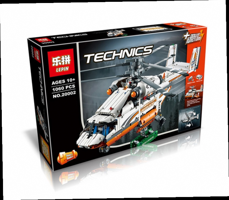 49.99$  Watch now - http://aliss6.worldwells.pw/go.php?t=32669686406 - 2016 New LEPIN 20002 1060Pcs Technic High Load Heavy Lift Helicopter Model Building Kits Minifigure Blocks Bricks Toy Gift 42052
