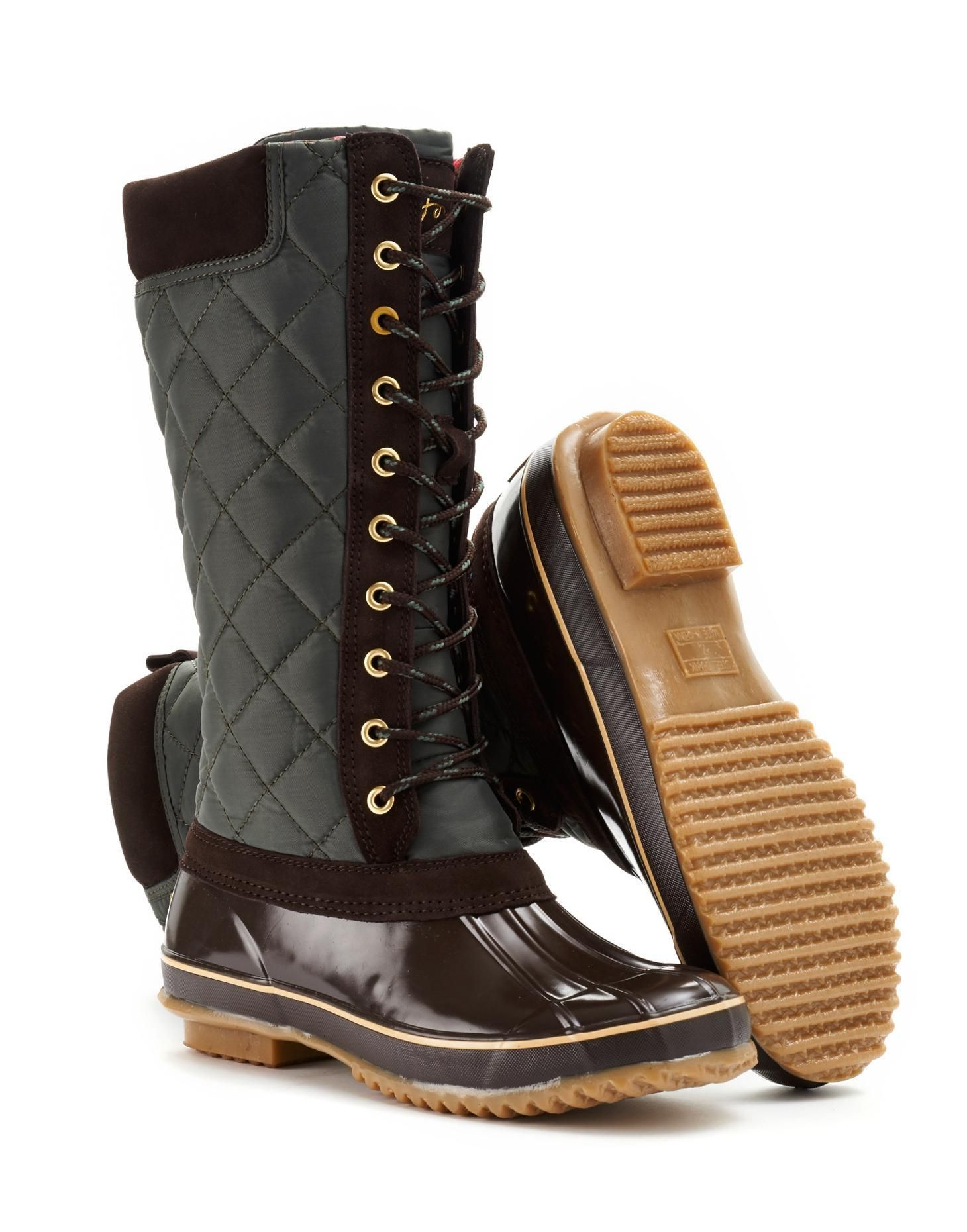 Joules Womens Lace-Up Muck Boot, Olive. Roll out the woodland ...