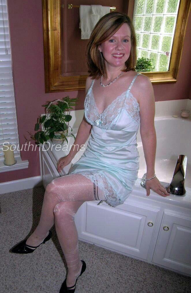 slips Silk stockings satin and