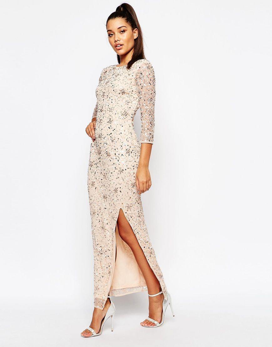 River island long sleeve embellished maxi dress dresses