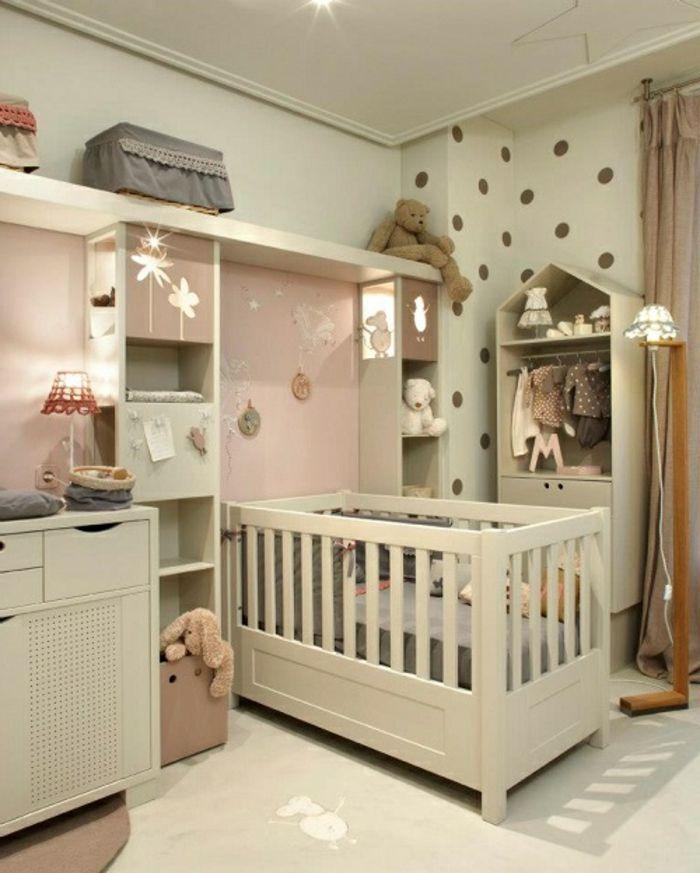 Babyzimmer set  Babyzimmer Set stauraum bett hell grün braune punkte | chambre d ...